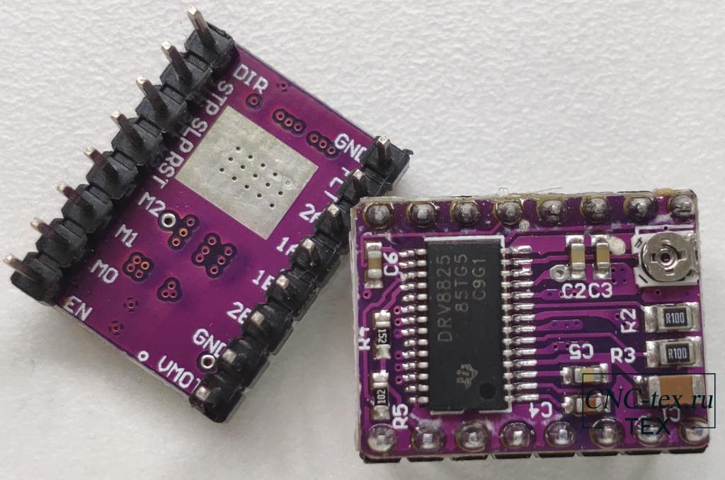 драйвер шагового двигателя DRV8825 и подключим его к Arduino