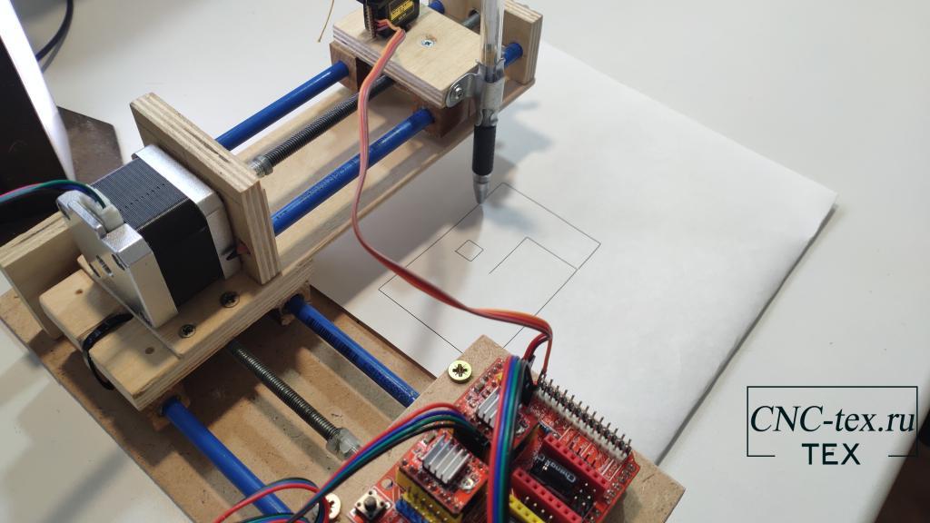 Сборка Самодельного плоттера на Arduino.