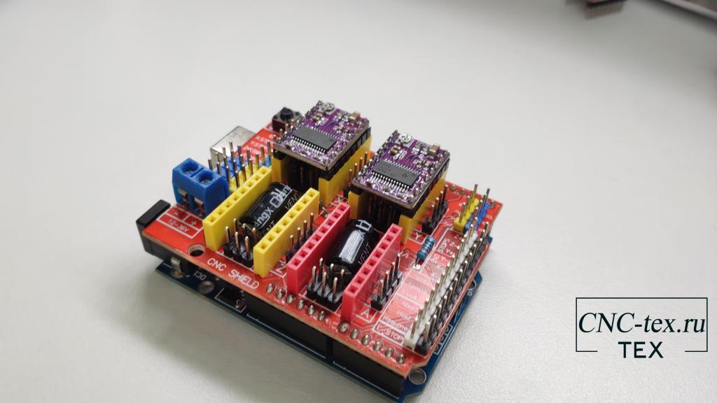 Драйвер DRV8825 можно установить на CNC shield v3. CNC shield используются для управления ЧПУ станками